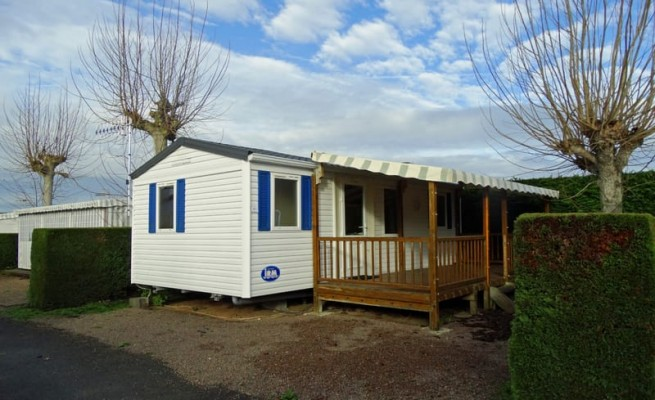 Location mobil home 2 chambres 4 6 pers les prises - Camping mobil home 4 chambres ...