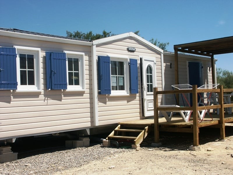 Mobil home 2 chambres luxe 4 6 pers - Camping cottage village aux hamacs a fleury ...