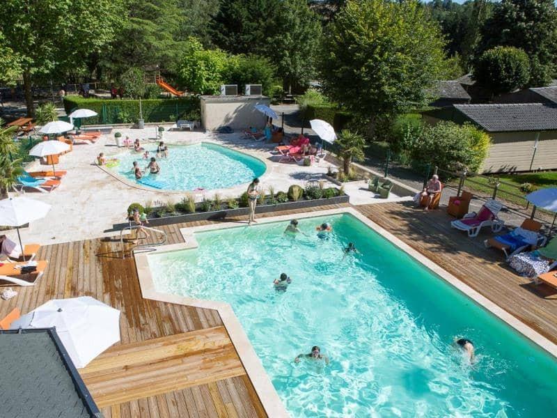 Camping hameau saint martial location mobil home aveyron for Vacances en aveyron avec piscine
